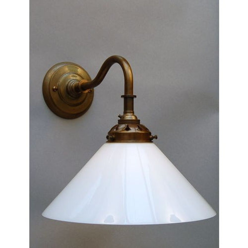 Deco Style Wall Lamp & Coolie Shade - 30S-WL1-AB