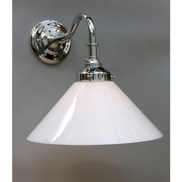 Deco Style Wall Lights : Art Deco Style Chrome Wall Light Fitting - 30S-WL1-C - Opal Coolie Lam Art Deco Lighting Company