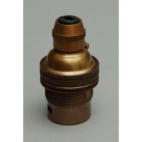 Aged Brass BC B22 Cord Grip Bulb Lamp Holder - 3000EH