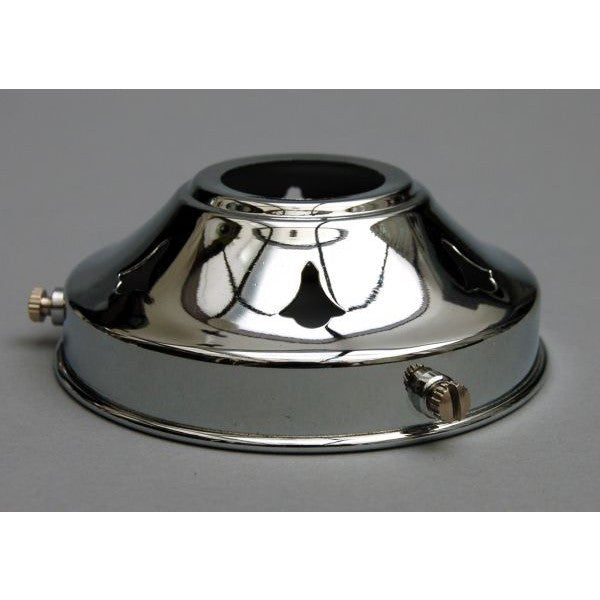 "Chrome 3¼"" Lamp Shade Gallery - 9239C"
