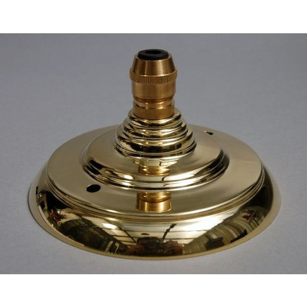 ADCRCG/PB - Brass Ceiling Rose & Cord Grip
