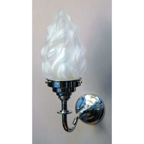 Chrome Wall Light & Flambeau Shade - 30S-WL3LG- C