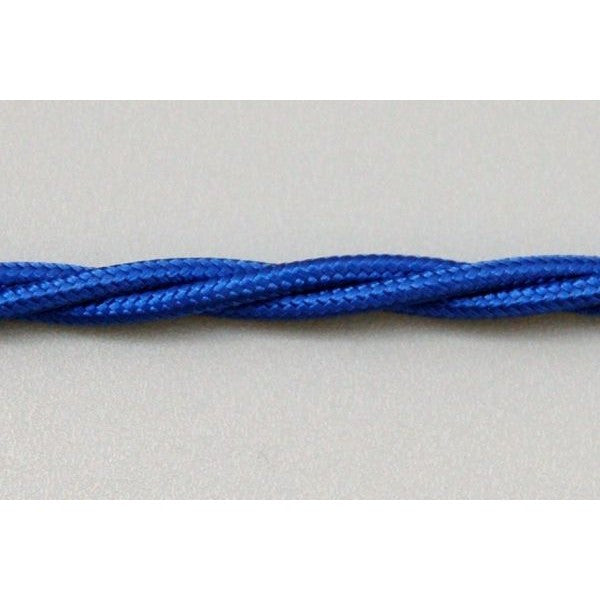 3 Core Fabric Lamp Lighting Cable - Royal Blue 0.5mm² - TBFRB