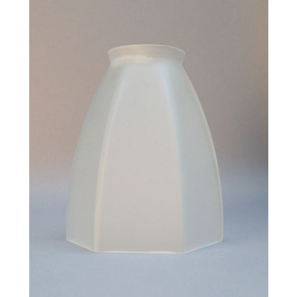 Satin Matt Finish Glass Hexagonal Tulip Light Shade - 712013
