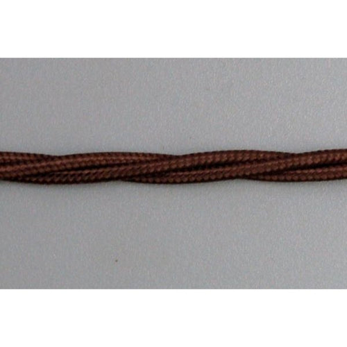 3 Core Braided Lamp Lighting Flex - Brown 0.5mm - TBFBR