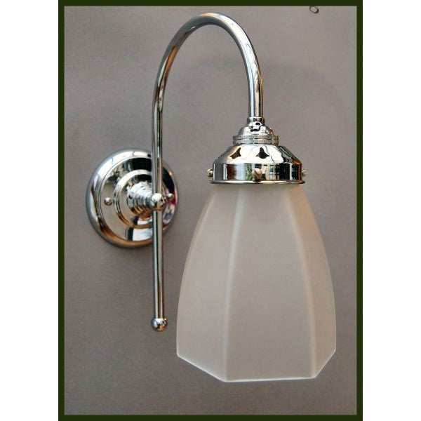Art Deco Style Chrome 'J' Wall Lights - 30S-WLJ-C