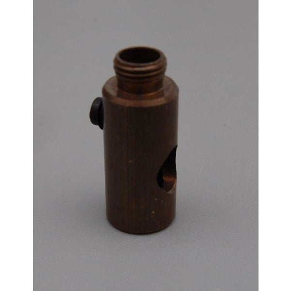 Aged Brass 10mm Male/Female Cord Grip Connector - 3201
