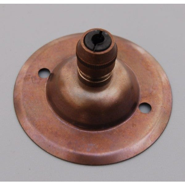 3199H/3200H - Aged Brass Ceiling Rose & Cord Grip