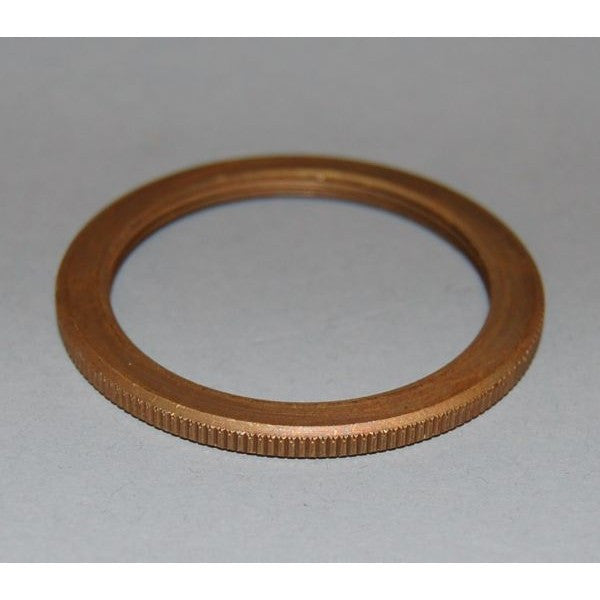 Aged Brass E27 Edison Screw Lampholder Spare Shade Ring -  ES1H