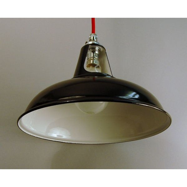 Enamel Factory Pendant Ceiling Light 30S-CGBP - Black