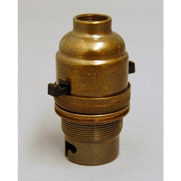 Aged Brass Switched Bulb Holder - 3013EH