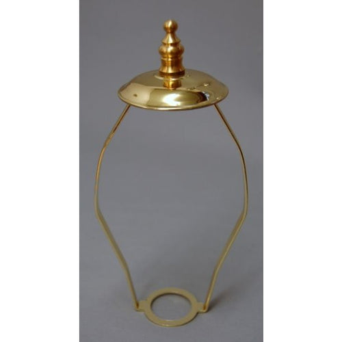 Brass Lamp Shade Carrier - Ornate Finial