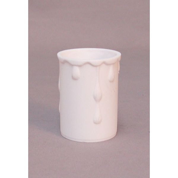 Drip Candle White Plastic Sleeve 35mm x 50mm