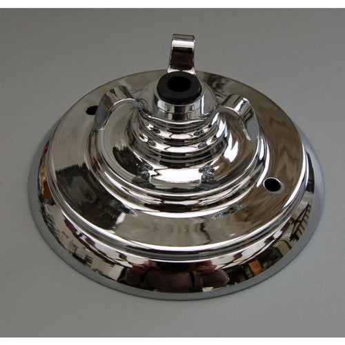 ADCR3W/C - Chrome Deco Ceiling Rose 3 Way Hook