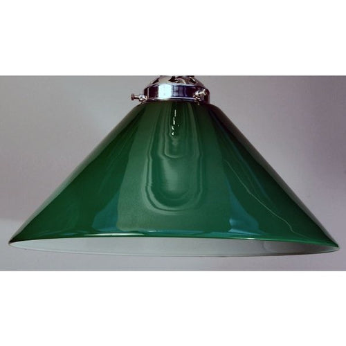 Large Green Glass Coolie Lamp Shade