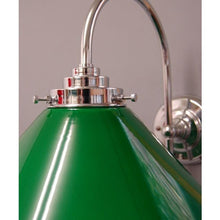 Art Deco Style 'J' Lamp & Green Coolie Glass Shade