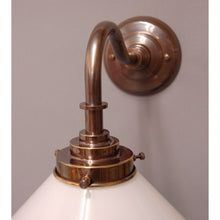 Art Deco Wall Light & Opal Coolie Lamp Shade - 30S-WL1AB3S