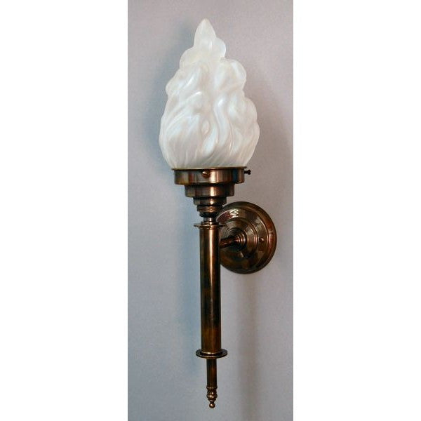 Art Deco Empire Wall Torch - Aged Brass