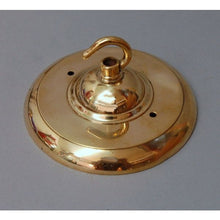Period Brass Ceiling Light Fitting and 10' Opal Glass Globe