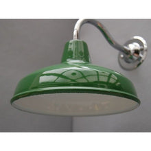 Barn Lights Goose Neck - Enamel Shade - 30S-GNWLS - Green Shade
