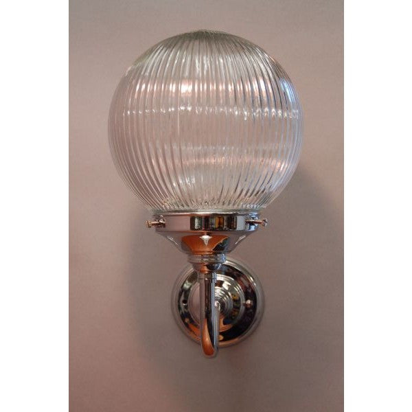 Art Deco Style Wall Light Fixture Prismatic Shade 30s