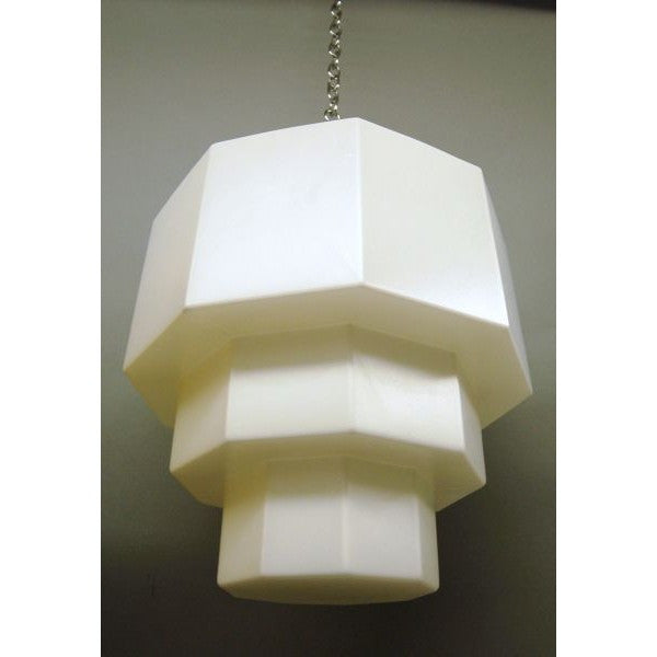 ART DECO SKYCRAPER  STYLE WALL LIGHT SCONCE LAMP BRASS AND GLASS