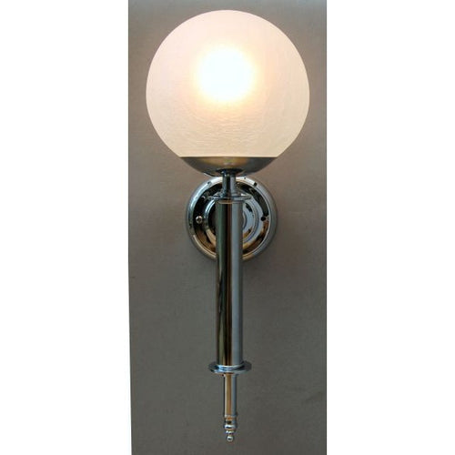 Art Deco Style Wall Torch & Crackle Globe - 30S - WTCGC
