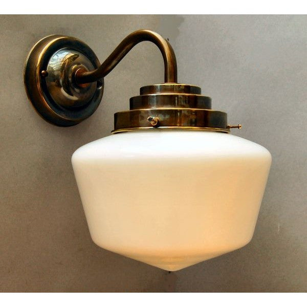 1930 S Style School House Wall Light Fixture 30s Shwl Ab