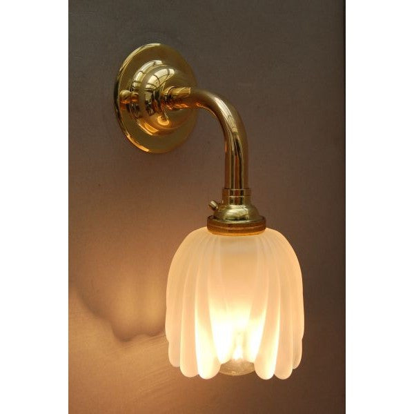 Orient Express Style Frosted Tulip Wall Lamp Bracket
