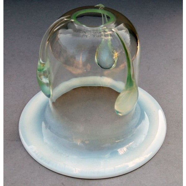 Art Nouveau Opalescent Teardrop Glass Shade