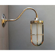 Caged Goose Neck Wall Light - 30S-CGNWL
