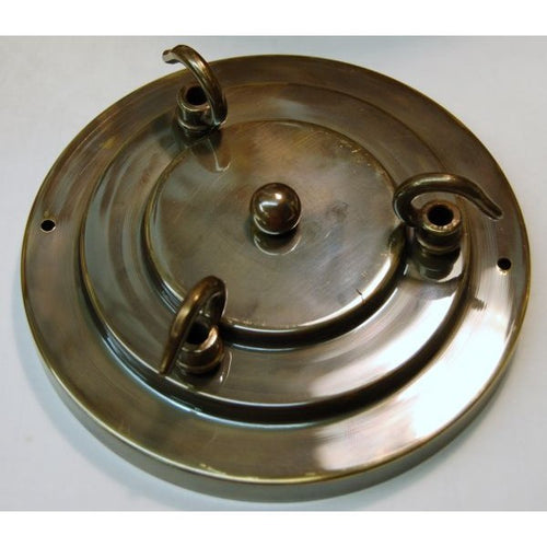 Large 160mm Ceiling Rose - 3 Way Hook