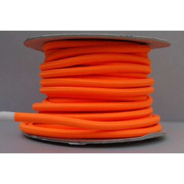 Neon Orange Braided Flex - Round 0.75mm 3 Core - 30S-NO-RBF