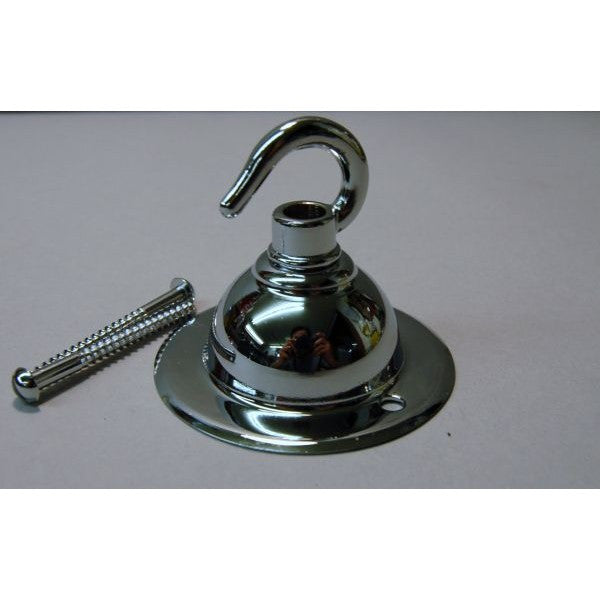 Chrome on Brass Ceiling Plate & Hook - 3099RC