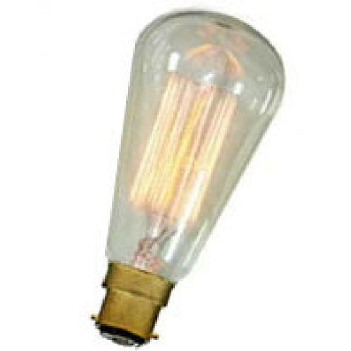 Squirrel Cage Pear Vintage Style Lamp - BC 40 Watt