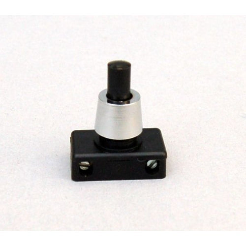 Push Button Switch - Black & Chrome