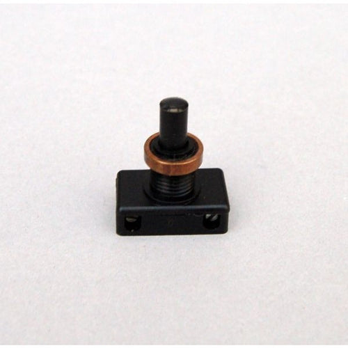 Push Button Switch & Aged Brass Ring Nut