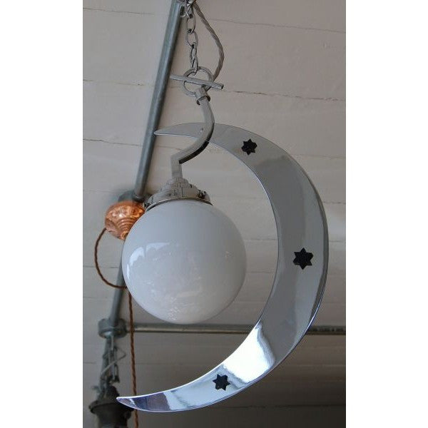 Art Deco Moon & Stars Children's Bedroom Light