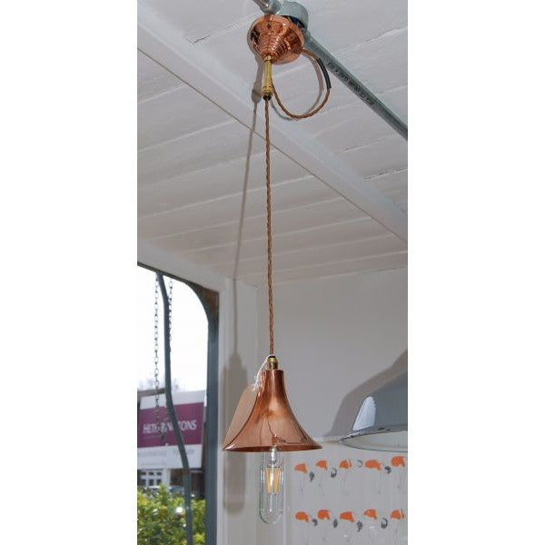 Copper & Brass Trumpet  Pendant Light
