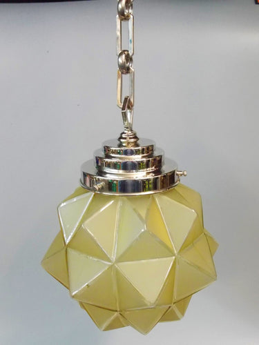 Star Shade Pendant Light - Very Rare 8