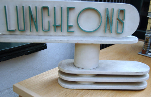 Period lamp lighting restoration lamp rewire services art deco ocean liner luncheon sign greentooth Gallery