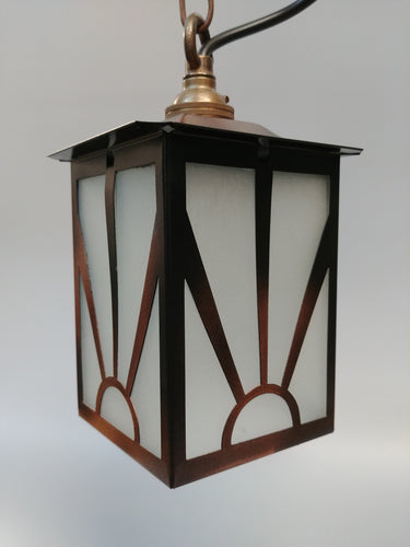Art Deco Porch Light - Sunray