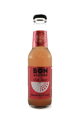 Bon Accord x Lucky Liquor Co. Salted Pink Grapefruit Soda 4x200ml