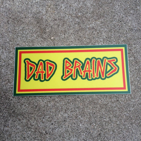 DAD BRAINS Rectangle Sticker - Bad Brains Inspired - Punk Dad