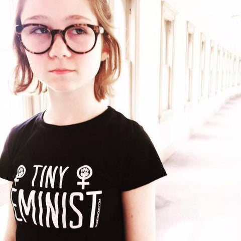 TINY FEMINIST Big Kids T-SHIRT
