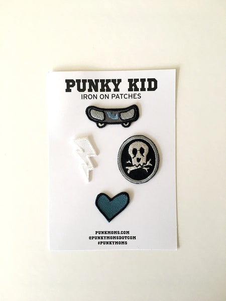 PUNKY KID PATCH SET - 4 designs