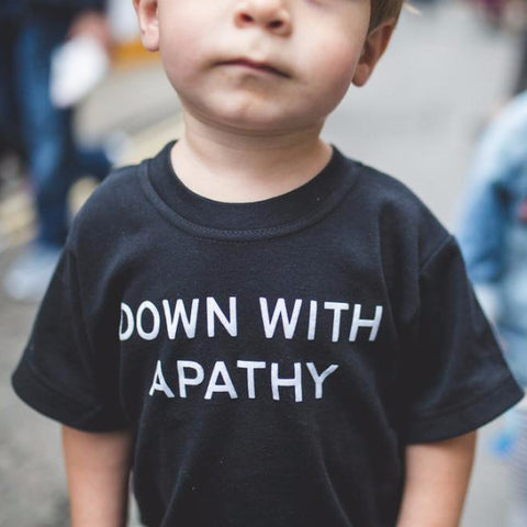 DOWN WITH APATHY Children's T-SHIRT