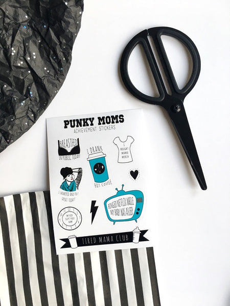 PUNKY MOMS Achievement Sticker Sheet