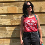 Empower Accept Love - Girl Pwr (Available 4 Colours/ Up to 2XL) Grl Pwr, Feminist Tank Top, Red Vest, Riot Grrrl