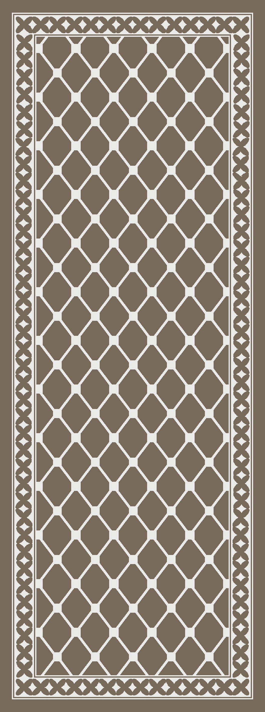 DM40 Ozzie Hallway Runner Brown 67cm x 180cm